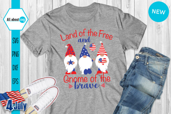 4th of July Gnomies Bundle   Graphic Crafts By All About Svg - Image 5