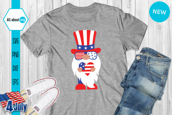 4th of July Gnomies Bundle   Graphic Crafts By All About Svg - Image 6