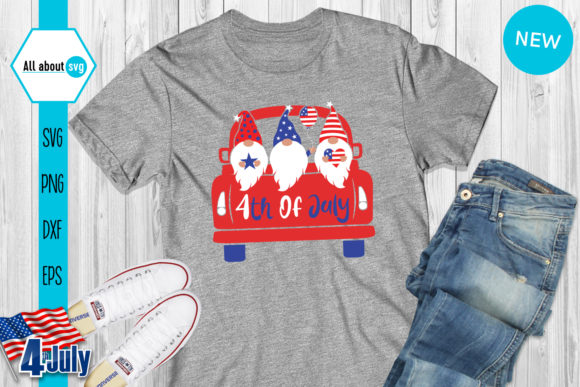 4th of July Gnomies Bundle   Graphic Crafts By All About Svg - Image 7