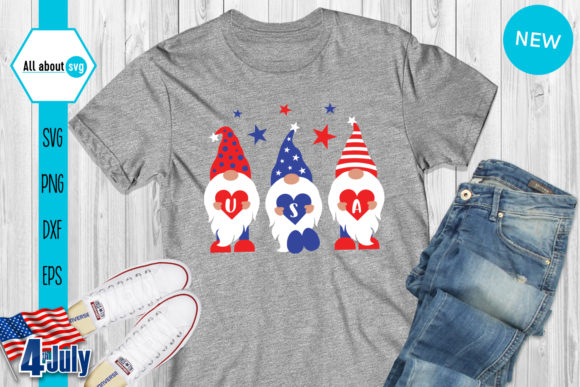 4th of July Gnomies Bundle   Graphic Crafts By All About Svg - Image 8