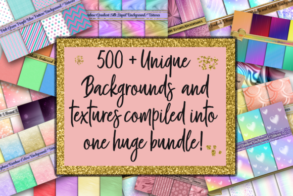 Print on Demand: 500+ Background Textures Bundle  By AM Digital Designs