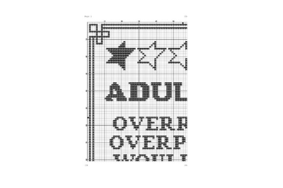 Adulting Funny Birthday Cross Stitch Graphic Cross Stitch Patterns By e6702 - Image 2