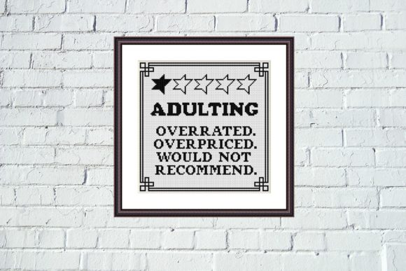 Adulting Funny Birthday Cross Stitch Graphic Cross Stitch Patterns By e6702 - Image 4