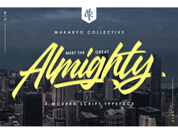 Print on Demand: Almighty Script & Handwritten Font By Makaryo Collective