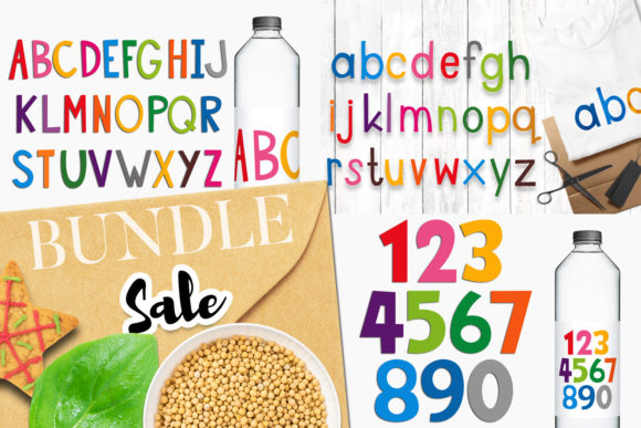 Print on Demand: Alphabet and Numbers Bundle Graphic Illustrations By Revidevi