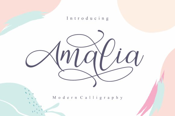 Print on Demand: Amalia Script & Handwritten Font By EKNOJI