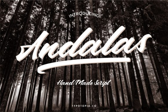 Print on Demand: Andalas Script & Handwritten Font By typotopia