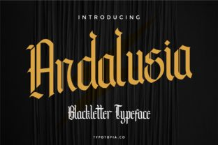 Print on Demand: Andalusia Blackletter Font By typotopia