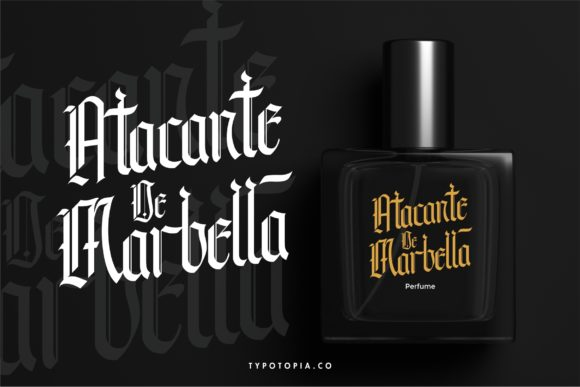 Print on Demand: Andalusia Blackletter Font By typotopia - Image 5
