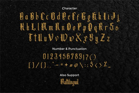 Print on Demand: Andalusia Blackletter Font By typotopia - Image 7