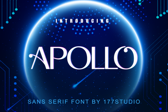 Print on Demand: Apollo Sans Serif Font By 177Studio