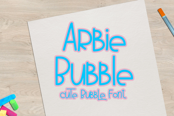 Print on Demand: Arbie Bubble Display Font By K_IN Studio