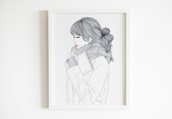 Download Free Art Print Girl Secretly Taking Picture Graphic By Saydung89 Creative Fabrica SVG Cut Files