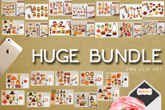 Print on Demand: Autumn and Thanksgiving Huge Bundle  By Revidevi