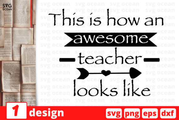 Download Free Awesome Teacher Quote Graphic By Svgocean Creative Fabrica for Cricut Explore, Silhouette and other cutting machines.
