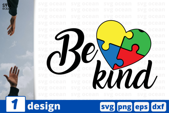 Print on Demand: Be Kind   Graphic Crafts By SvgOcean
