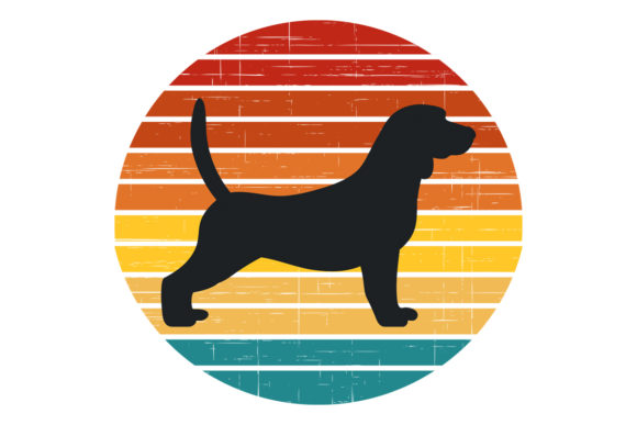 Download Free Beagle Dog Retro Vintage Sunset Graphic By Sunandmoon Creative for Cricut Explore, Silhouette and other cutting machines.