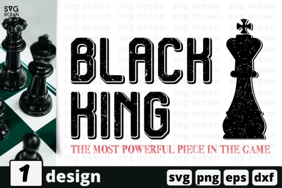 Download Free Black King Quote Graphic By Svgocean Creative Fabrica for Cricut Explore, Silhouette and other cutting machines.