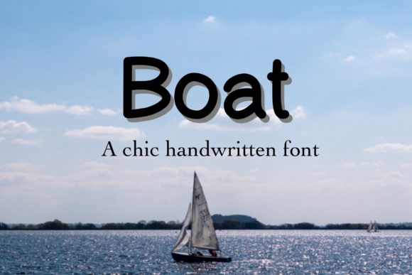 Print on Demand: Boat Script & Handwritten Font By TakeNoteDesign
