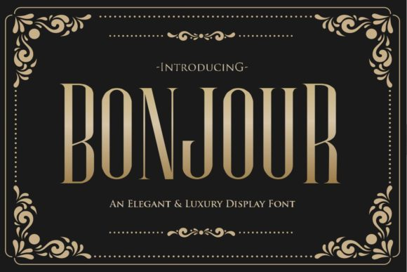 Print on Demand: Bonjour Serif Font By Gilar Studio