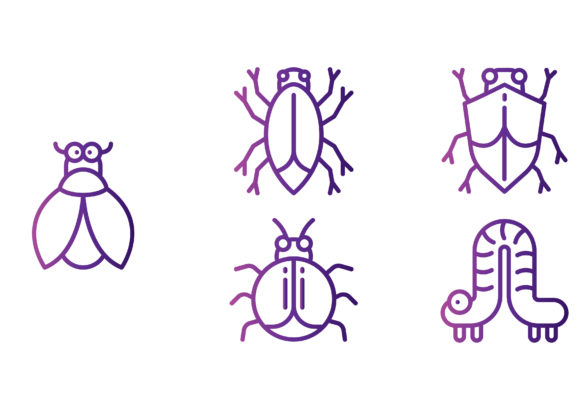 Download Free Bug And Insects Gradient Graphic By Beryladamayu Creative Fabrica for Cricut Explore, Silhouette and other cutting machines.