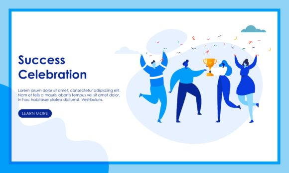 Business People Celebrate Team Succes Graphic Business By DEEMKA STUDIO