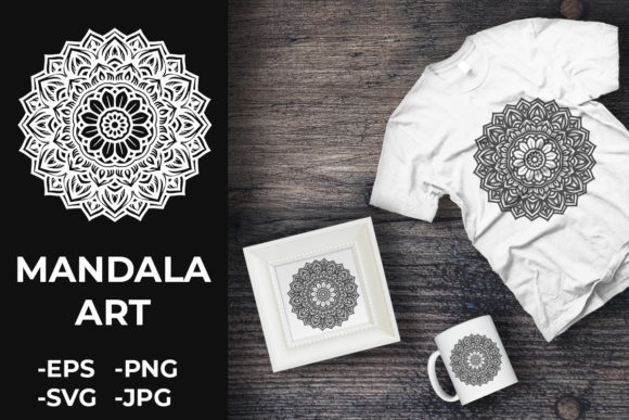 Download Free Circular Pattern Mandala Art 393 Graphic By Azrielmch for Cricut Explore, Silhouette and other cutting machines.
