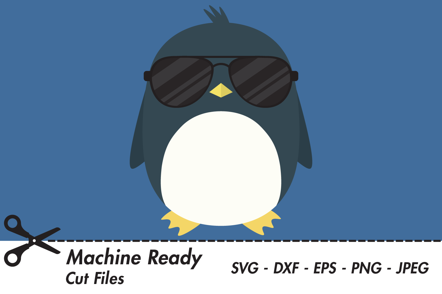 Download Free Cool Boy Penguin With Shades Graphic By Captaincreative for Cricut Explore, Silhouette and other cutting machines.