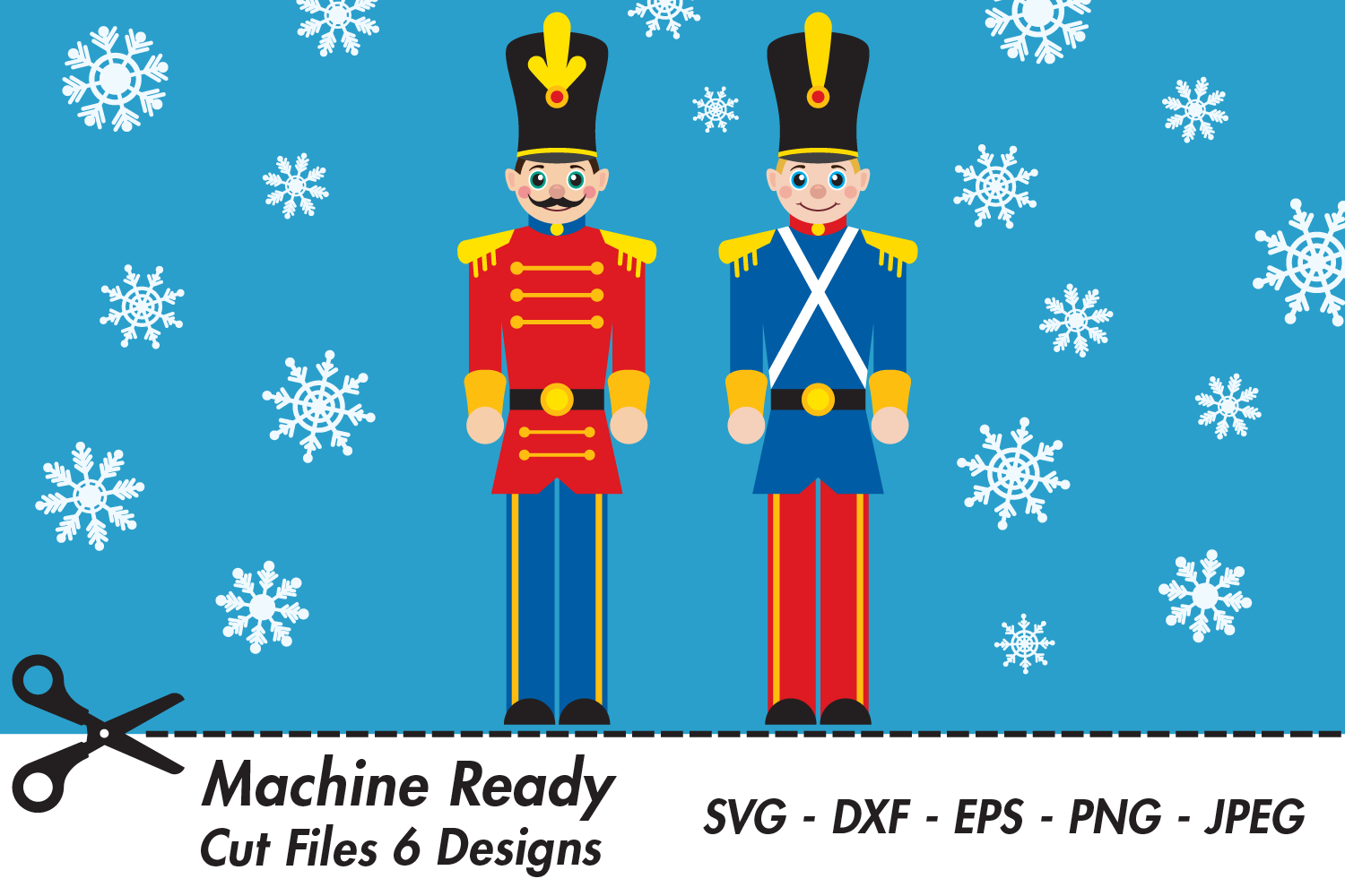 Download Free Cute Christmas Toy Soldiers Graphic By Captaincreative for Cricut Explore, Silhouette and other cutting machines.