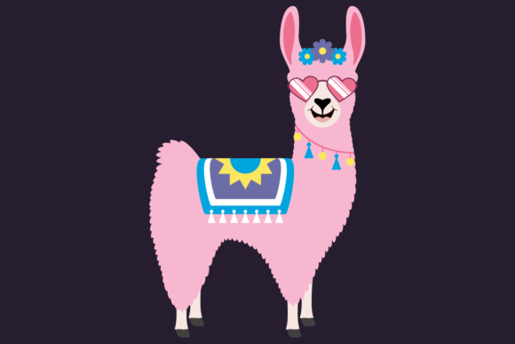 Download Free Cute Girl Llamas With Shades And Cacti Graphic By for Cricut Explore, Silhouette and other cutting machines.