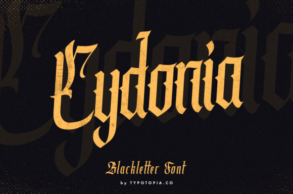 Print on Demand: Cydonia Blackletter Font By typotopia