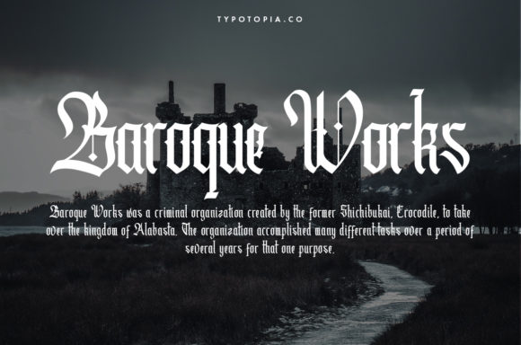 Print on Demand: Cydonia Blackletter Font By typotopia - Image 7