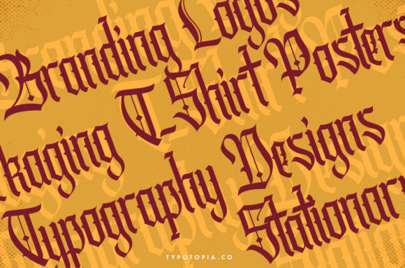Print on Demand: Cydonia Blackletter Font By typotopia - Image 9