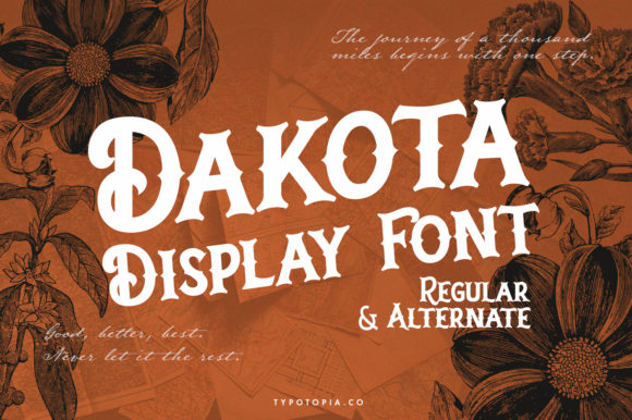 Print on Demand: Dakota Display Fuente Por typotopia