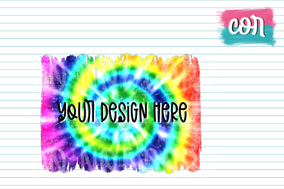Print on Demand: Distressed Tie Dye Backsplash Graphic Crafts By designscor