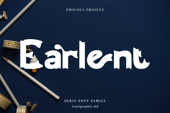 Print on Demand: Earlent Display Font By sifak1726