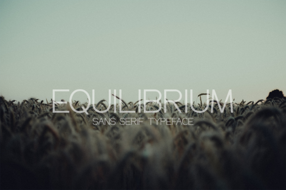 Print on Demand: Equilibrium Sans Serif Font By Allison