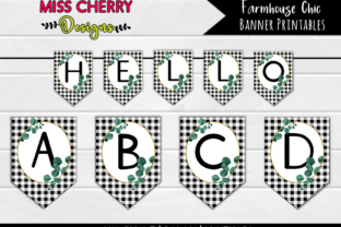 Farmhouse Chic Banner Printables Graphic Illustrations By Miss Cherry Designs