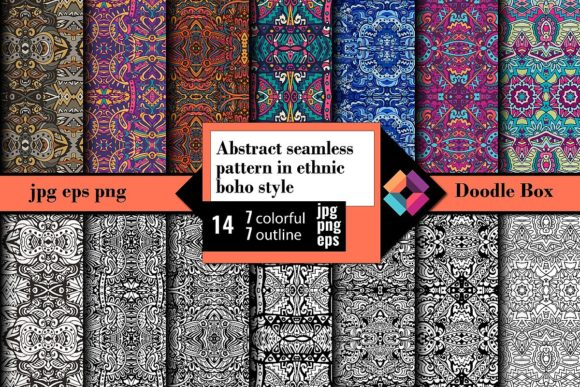 Festive Seamless Pattern in Ethnic Style Graphic Patterns By DoodleBox