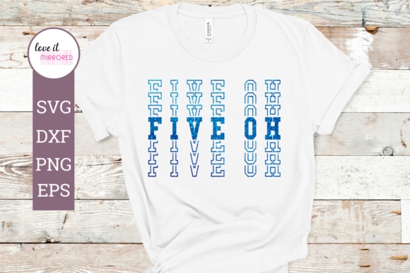 Download Free Five Oh 50th Birthday Design Graphic By Love It Mirrored for Cricut Explore, Silhouette and other cutting machines.