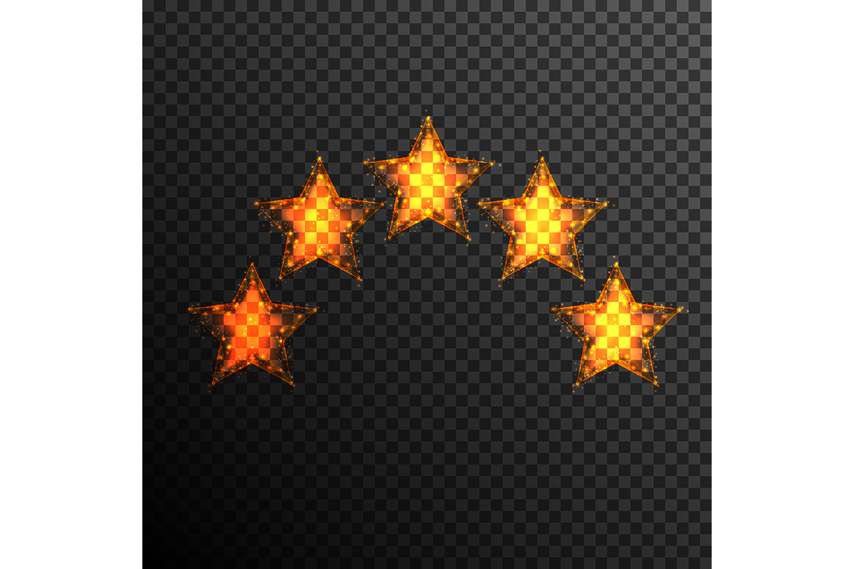 Download Free Five Stars Customer Product Rating Review Graphic By Ojosujono96 for Cricut Explore, Silhouette and other cutting machines.