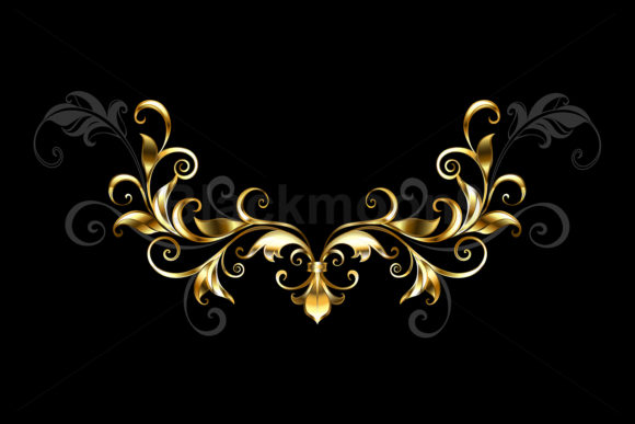 Floral Gold Frame Graphic Illustrations By Blackmoon9
