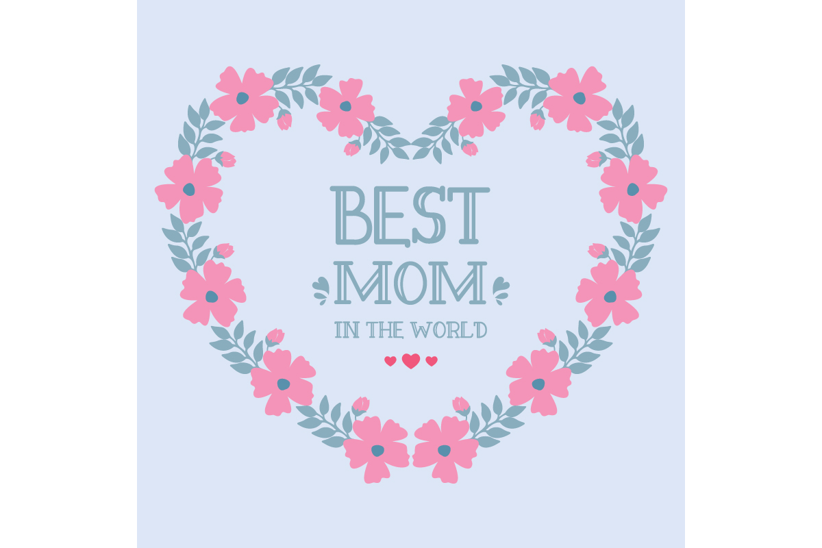 Download Free Frame Design For Best Mom In The World Graphic By Stockfloral for Cricut Explore, Silhouette and other cutting machines.