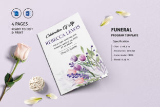 Print on Demand: Funeral Program Template Graphic Print Templates By sistecbd