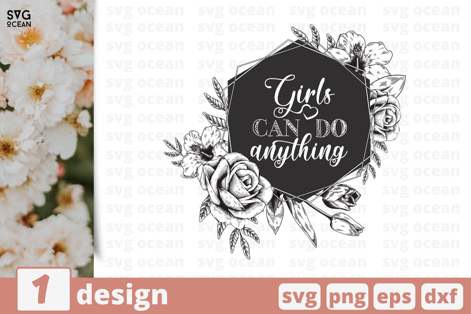 Download Free Girls Can Do Anything Graphic By Svgocean Creative Fabrica for Cricut Explore, Silhouette and other cutting machines.