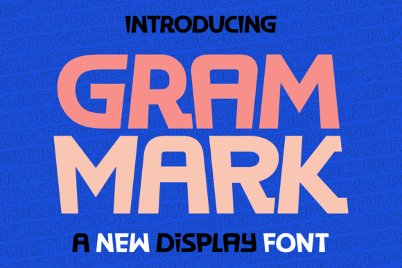 Print on Demand: Gram Mark Display Font By Situjuh