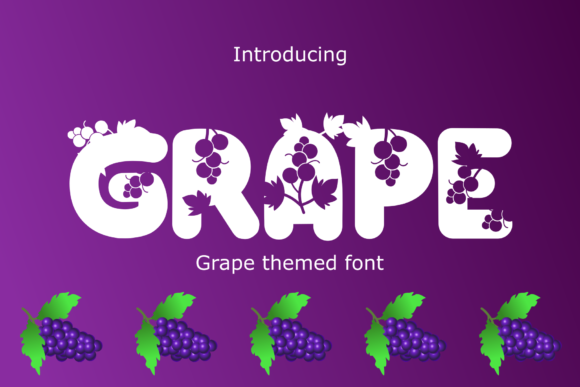 Print on Demand: Grape Display Font By Rusd studio
