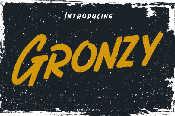 Print on Demand: Gronzy Display Font By typotopia
