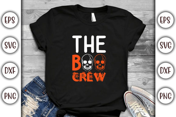 Print on Demand: Halloween Quotes Design, the Boo Crew Graphic Print Templates By GraphicsBooth