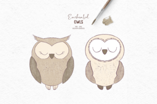 Print on Demand: Hand-drawn Owl Clipart for Kids Graphic Illustrations By Wallifyer